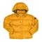 Piumino imbottito giallo con cappuccio