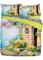 Biancheria letto Casale Fiorito (Blu) - Euronova