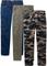 Pantaloni basic, modello cinque tasche con elastico in vita (Verde) - John Baner JEANSWEAR