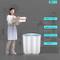Lavatrice portatile Doppio cilindro lavatrice e asciugatrice per uso domestico Capacità di...