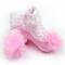 Rosa Piano corto per neonate in cotone stile dolce Calze per 0-18 m