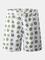 Pantaloncini da spiaggia da spiaggia con fodera a rete a vita media con stampa foglie da u...