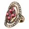 Anelli di Boemia Anelli geometrici a forma di gemma di cristallo rosso con pietre preziose...