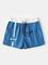 Mens Casual Gym Idoneità Pantaloncini sportivi da allenamento con coulisse in puro colore