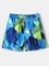 Shorts in fodera a rete ad asciugatura rapida con fodera in tessuto stampato blu geometric...