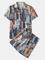 Pigiama in stile etnico Due pezzi Colletto con risvolto Sottile abbigliamento da salotto c...
