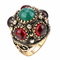 Anello di barretta di modo sferico cristallo irregolare oro geometrica anelli placcato gio...