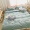 Set di biancheria da letto in cotone lavato con inserti in cotone 100% 3/4 pezzi