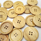 30Pcs 38mm Diametro di legno bottoni in legno naturale rotondo 4 fori rotondi pulsanti di...