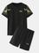 Due pezzi Loungewear Drago Set da allenamento stampato con top a maniche corte