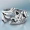 Gioielli da donna vintage con anello aperto piccolo gatto aperto regolabile placcato argen...