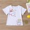 T-shirt casual con scollo a maniche corte a maniche corte con stampa di cartoni animati pe...