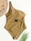 Costume da bagno donna con cinturino singolo cinturino solido One pezzo