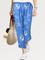 Vita casual elastica stampata floreale Pantaloni per le donne