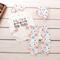 Set di abbigliamento pagliaccetto per neonato con stampa di 4 pezzi per 0-24 m
