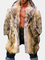 Trench da uomo in pelliccia di procione sintetica Cappotto casual con collo di pelliccia c...
