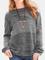 Maglione da donna con scollo a manica lunga a contrasto colore