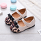Girls Leopard Bowknot Decor Gancio Loop Lovely Mary Jane Shoes