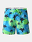 Pantaloncini da uomo in tartaruga con stampa di foglie di stella e pantaloncini da bagno a...
