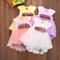 Bambina a 0-3 Anni Vestito a Tulle Estivo Carino Floreale di Stile Principessa Festivo