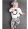 2 pezzi unisex bambino Soft t-shirt a maniche lunghe in cotone pinguino + pantaloni set pe...