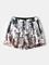 Pantaloncini da spiaggia a tasche con tasche ad asciugatura rapida Pantaloni con coulisse...