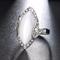 Anelli barretta della Boemia Anelli geometrici opali ovali con strass in resina bianca per...