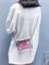 Donna trasparente Laser Spalla Borsa Catene Elegante Mini Crossbody in PVC Borsa