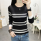 New Striped Sweater Women's Round Neck Pullover Woolen Slim Slimming Bottoming Sweater Wil...