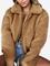 Cappotto invernale da donna addensato con doppia tasca in pile con zip