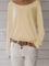 Camicia allentata casuale del maglione lavorato a maglia a maniche lunghe del pullover del...
