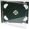CD doppio Jewel Cases 10.4mm per 2dischi con vassoio nero (confezione da 25) di marca Dr...