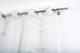 InCasa Bastone per Tende Ø 20 mm Senza Anelli, L. 160 cm. in Acciaio Satinato – Completo