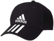 adidas 6 Panel 3 Stripes Cotton Twill, Headwear Uomo, Black/White/White, OSFY