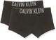 Calvin Klein 2 Pack Trunks Boxer, Nero (Black 001), Unica (Taglia Produttore: 10-12) Bambi...