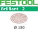 FESTOOL 575140 STF D150/48 P180 BR2/10 - Dischi abrasivi in acciaio, set da 10, colore: Gr...