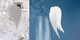 Kleenes Traumhandel 50 segnaposto, motivo ali d'angelo, cartellino del nome