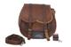 moto laterale della borse laterali in pelle marrone lato della sella Panniers (1 borse) mo...