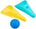 Quut–cuppi Set Pelle/setaccio e Palla, qu170648, Verde Laguna/Giallo Limone/Palla Blu