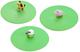 Lurch 210194 - Set di 3 coperchi in Silicone, Tema: Animali della Fattoria