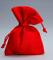 Set 30 pezzi, Bomboniera sacchetto stoffa iuta 10x13, portaconfetti (ck7022-30) (ROSSO)
