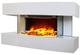 Chemin'Arte 185 Lounge Medium Bianco Camino Elettrico Parete Design 82 x 21 x 42 cm