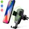 Caricatore Wireless Auto,10W Caricabatteria Rapido Vento d'Aria Culla Supporto Telefono, A...
