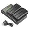 Neewer NP-F550 Kit di Caricabatterie per Sony NP F970,F750,F960,F530,F570,CCD-SC55,TR516,T...