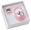 Disney Clip Ciuccio, Catenella Portaciuccio con Box in Argento - ideale come regalo per na...