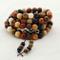 Perline rotonde miste in legno di sandalo naturale in palissandro Phoebe Senna, 108 perlin...