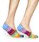Happy Socks 3-pack Stripe Liners Calze, Multicolore (Multicolour 300), 7-10 (Taglia Produt...