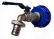 """VXTRADE - Adattatore con rubinetto da 3/4"""" per serbatoio acqua piovana IBC, capacità 1.000..."""