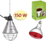 Contro Riflettore portalampada per Riscaldamento Pulcini, suini, Cuccioli + Lampada infrar...