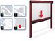 Zanzariera a rullo IRS Sottile kit fai da te riducibile vari colori e misure cm 120x250 Ma...
